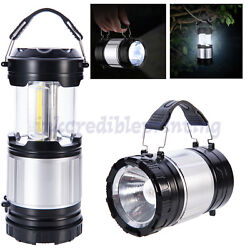 2 in 1 LED Camping Lantern Cob Light Ultra Bright Collapsible Lamp Portable