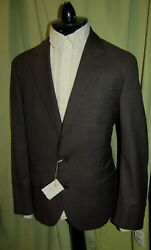NWT BRUNELLO CUCINELLI 2 to 4 button 100% wool brown mini check suit 50 40 ITALY