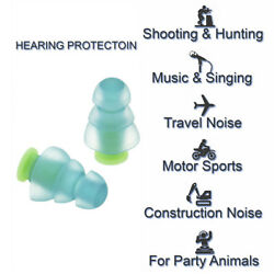 Best Noise Cancelling Earplugs for Sleeping Musicians Hearing Protection $1.49