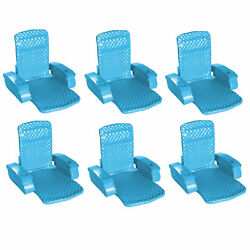 TRC Recreation Super Soft Swimming Pool Folding Chair Foam Lounge Float (6 Pack)