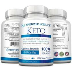 Approved Science Keto: Exogenous 4 Ketone Salts MCT Oil Boost Ketosis Burn Fat