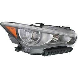 Headlight For 2014 2015 2016 2017 Infiniti Q50 Right LED With Bulb $302.99