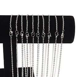 Wholesale 10 PiecesLot Silver Plated Making DIY Hard Link Chain Necklace 22''
