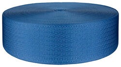 2 Inch Egyptian Blue Seat-Belt Polyester Webbing Closeout 5 Yards $7.90