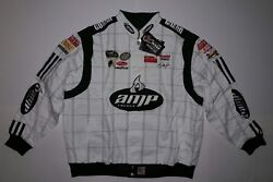 AMP Energy Dale Earnhardt Jr. drivers racing style NASCAR white jacket