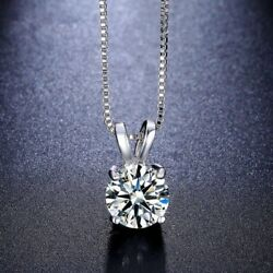 Women Fashion Crystal Pendant Necklace Charm Silver Plated Chain Jewelry Gift $1.38