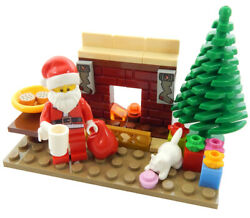 NEW LEGO SANTA CLAUS w Christmas Tree Fireplace Gifts minifigure minifig visit $19.99