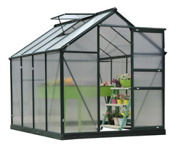 6' x 8' x 7' Portable Walk In Garden Greenhouse Yard Care Plants Flowers Veggies