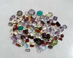 Over 100 Carats of Natural Gem Mix Loose Faceted  Parcel Lot $21.99