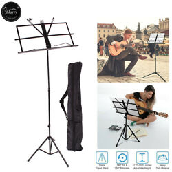 Adjustable Folding Music Stand Black w/ Carrying Bag Black Durable $9.99