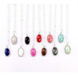 Crystal Small Abalone Faceted Resin Gem Geometric Pendant Women Choker Necklace