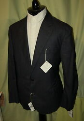 NWT BRUNELLO CUCINELLI 2 to 4 button dk grey 100% wool suit 56 46 ITALY $4495