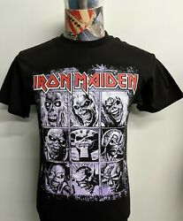 BRAND NEW IRON MAIDEN RED BAND NAME W  EDDIE NINE FACES EVOLUTION BLACK T SHIRT