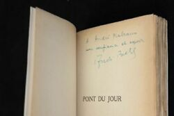 Andre BRETON Point du jour FIRST EDITION INSCRIBED COPY 934