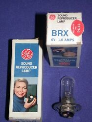 GE BRX 6V 1.0A PROJECTOR SOUND REPRODUCTION LAMP NOS IN BOX $9.50