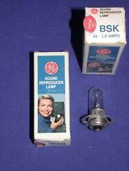 GE BSK 6V 1.0A PROJECTOR SOUND REPRODUCTION LAMP NOS IN BOX $8.10