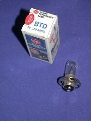 GE BTD 7V 2.0 PROJECTOR SOUND REPRODUCTION LAMP NOS IN BOX $13.00