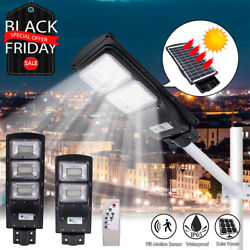 6090W Solar Powered LED Street Light Radar Indution PIR Motion Senso $53.99