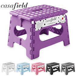 9quot; Collapsible Folding Plastic Kitchen Step Foot Stool w Handle Adults Kids $12.99