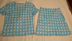 AVERARDO BESSI Cotton A Line Skirt Top Outfit Made in Italy ? Small $19.95