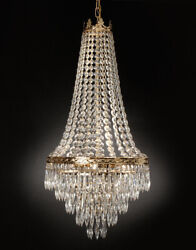 French Empire Crystal Chandelier Lighting H30XWd17 4 Lights Ceiling lamp Fixture