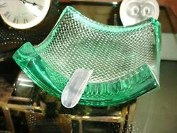 LISTED SCHLANSER TEXTURED THICK GLASS ART PIECE ASHTRAY