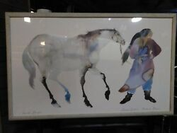 Carol Grigg She Walks With Horses Watercolor Print  Frame: 60-12