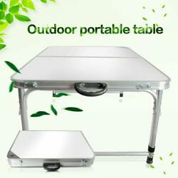 4FT Folding Table Portable Aluminum & Wooden Board Activities Picnic Outdoor $34.99