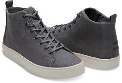TOMS Lenox Mid Shade Hemp Sneakers Mens Grey High Tops Shoes Various Sizes GBP 39.95