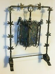 Antique sterling silver Chinese lamp china oriental enameled lantern (m2158)