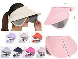 Wide Brim Sun Women Hats Summer Beach Visor Cap With Extendable Sides Protection $9.99