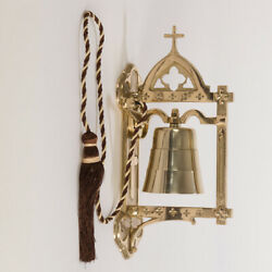 Traditional Brass Church Sanctuary Sacristy Wall Bell Communion Bell #319 $379.00