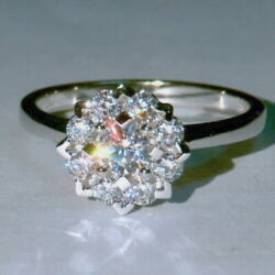 EFFECT 3Ct 100% Natural Diamond 14K White Gold Engagement Wedding Ring R38