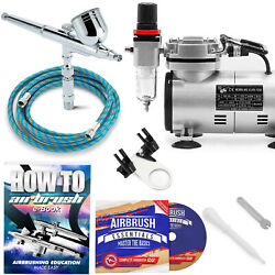 Multi purpose Airbrush Kit with Compressor Crafts Hobby Art $84.75