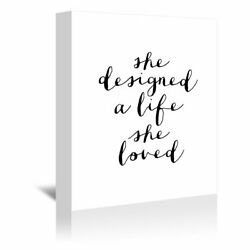 Americanflat 'She Designed A Life She Loved' Gallery Wrapped Canvas