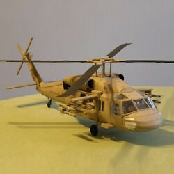 DIY 1 33 Black Hawk UH 60 Utility Helicopter 3D Paper Model Military Puzzle Kit $25.86