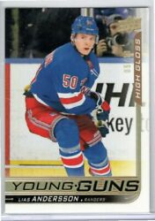 LIAS ANDERSSON 2018-19 Upper Deck Young Guns HIGH GLOSS #10 Rookie UD Rangers *