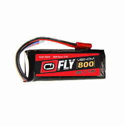 Venom Fly 30C 2S 800mAh 7.4V LiPo Battery with JST Plug for RC Planes and Helis $14.99