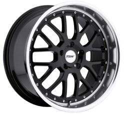 19x95 TSW Valencia 5x120 Rims +40 Black Wheels (Set of 4)