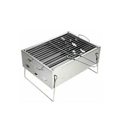 Looimage Small Outdoor Barbecue Grill Home Charcoal Portable Folding Charcoal... $25.00
