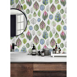 Cartoon Leaves Wallpaper Wall Non Woven Traditional Nursery Home Mural Decor $283.00