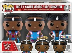 FUNKO POP!_WWE 3-Pack_BIG E_XAVIER WOODS_KOFI KINGSTON 3 ¾