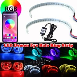 Multi Color bluetooth Control Demon Eye Halo Ring For Car Headlight Projector