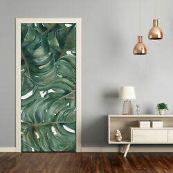 3D Home Art Door Wall Self Adhesive Removable Sticker Flowers Plants monstera $65.00