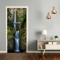 Home Mural Door Self Adhesive Removable Sticker Decal Landscapes Waterfall   $13.00