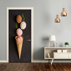 3D Home Art Door Self Adhesive Removable Sticker Food Ice cream in a wafer $55.00
