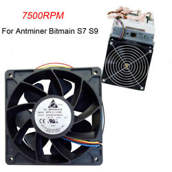US - 7500RPM Cooling Fan Replacement 4-pin Connector For Antminer Bitmain S7 S9