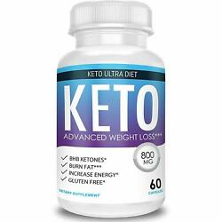 Keto Ultra Diet - Advanced Weight Loss - Ketosis Supplement 800mg 60Capsules