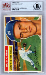 Bob Grim Autographed Signed 1956 Topps Card #52 New York Yankees Beckett 9770725