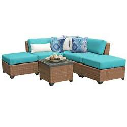 Laguna 6 Piece Outdoor Wicker Patio Furniture Set 06f
